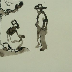Djemaa el Fna # 4, 21 x 30 cm, ink on paper, 2002