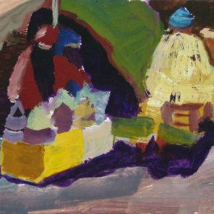 Souk # 1, 21 x 30 cm, acrylic on paper, 2002