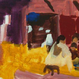 Souk # 2, 21 x 30 cm, acrylic on paper, 2002