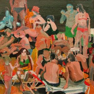 BB (Bloemendaal Beach), 45 x 45 cm, oil on canvas, 2004