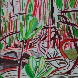 Swamp # 1, 30 x 21 cm, pastel on paper, 2005