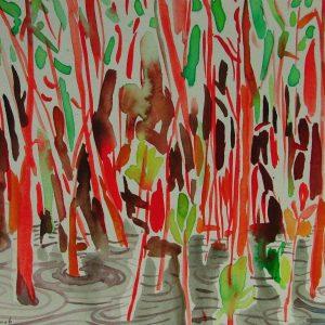 Swamp # 2, 21 x 31 cm, watercolour on paper, 2005