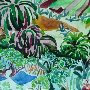 Primavera # 1, la Gomera, 23 x 31 cm, watercolour on paper, 2006