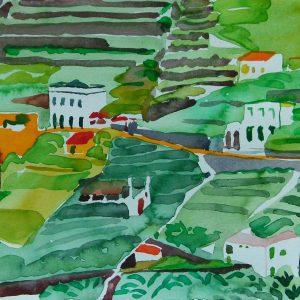 Primavera # 2, la Gomera, 23 x 31 cm, watercolour on paper, 2006