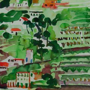 Primavera # 3, la Gomera, 31 x 23 cm, watercolour on paper, 2006