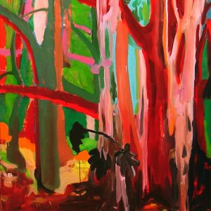 In the woods # 2, 190 x 150 cm, oil on canvas, 2005