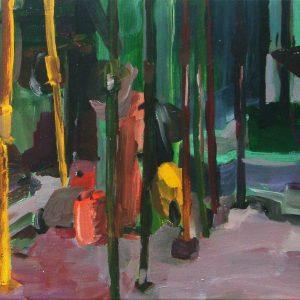Stempels # 1, 35 x 45 cm, acrylic on canvas, 2005