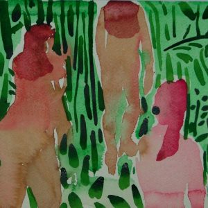 The walk, 21 x 30 cm, water colour on paper, 2006