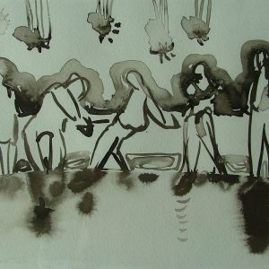 Untitled # 5, 20 x 25 cm, ink on paper, 2006
