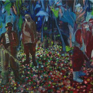 Walk # 1, 45 x 55 cm, oil on canvas, 2006