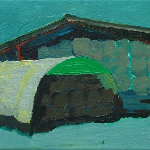 Schuren # 3, 22.5 x 31 cm, acrylic on canvas, 2006