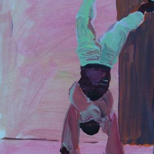 Boy upside down # 2, 23 x 17 cm, oil on paper, 2007