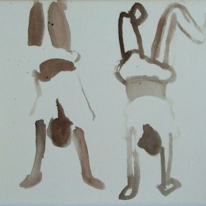Boys upside down # 1, 22 x 25 cm, ink on paper, 2007