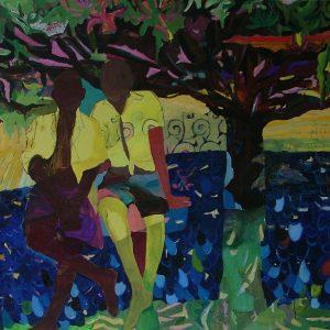 Boys, 190 x 135 cm, mixed media on canvas, 2007