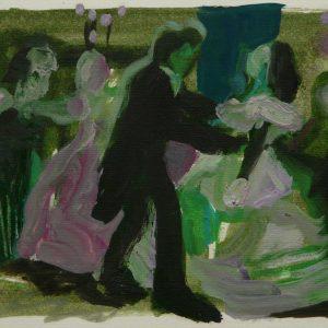 De dans, oil on paper, 23 x 30 cm, 2008