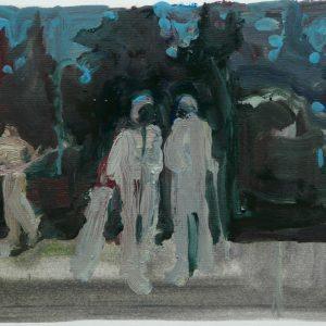 Golf, oil on paper, 23 x 30 cm, 2008