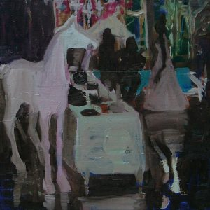 White horse # 2, 50 x 50 cm, oil on canvas, 2008