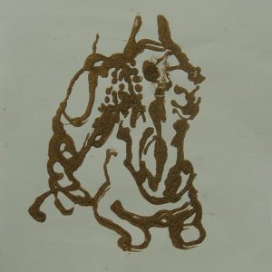 Essouiera camel # 3, 29,6 x 21 cm, sand on paper, 2008