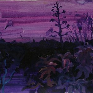 Essouiera night, 21 x 29,6 cm, acrylic on paper, 2008