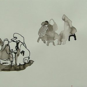 Djemaa el Fna # 5, 21 x 29,6 cm, ink on paper, 2008