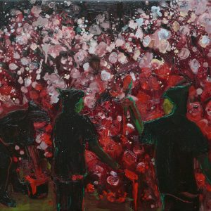 The Rosepainters # 2, 40 x 50 cm, oil on canvas, 2009