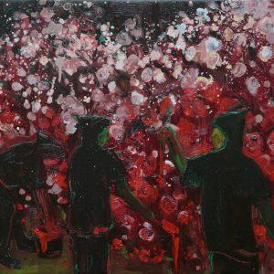 The Rosepainters # 2, 40 x 50 cm, oil on canvas, 2009