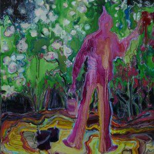 Rosepainter # 1, 80 x 60 cm, oil on canvas, 2009