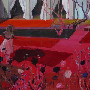 Entering the Garden, 115 x 190, oil on canvas, 2009
