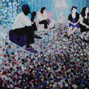 The Carpet, 140 x 160 cm, oil on canvas, 2009