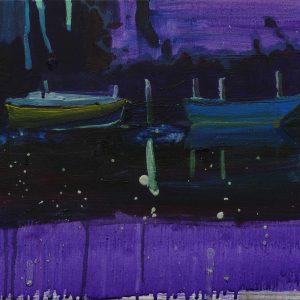 Bateaux (Meuse), 35 x 45 cm, acrylic on canvas, 2009
