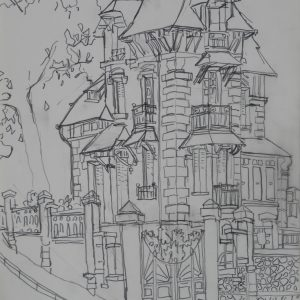 Countryhouse # 1, 29 x 21 cm, pencil on paper, 2009