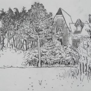 Countryhouse # 2, 21 x 29 cm, pencil on paper, 2009
