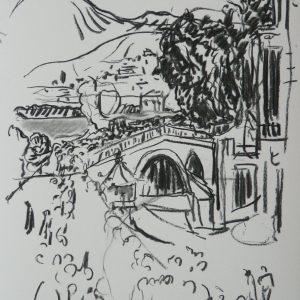 The bridge, 48 x 32 cm, charcoal on paper, 2010