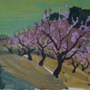 Almonds, 32 x 48 cm, acrylic on paper, 2010