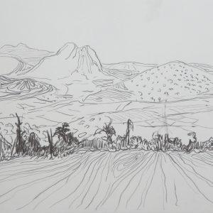 Landscape # 3, 24 x 32 cm, pencil on paper, 2010