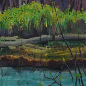 Riverside # 1, 45 x 35 cm, acrylic on canvas, 2010