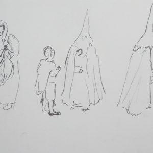 Viernes Santo # 3, 24 x 32 cm, pencil on paper, 2010