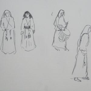 Viernes Santo # 4, 24 x 32 cm, pencil on paper, 2010