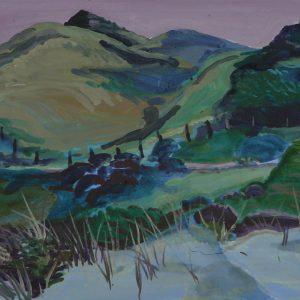 Dunes # 1 (Parnassia), 25 x 50 cm, acrylic on paper, 2012