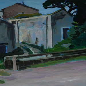 The old house # 1, 25 x 50 cm, acrylic on paper, 2012