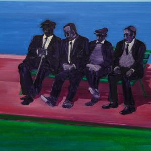 Bench, 100 x 125 cm, oil on canvas, 2012/13