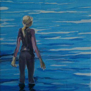 Wetsuit, 25 x 25 cm, oil on canvas, 2013