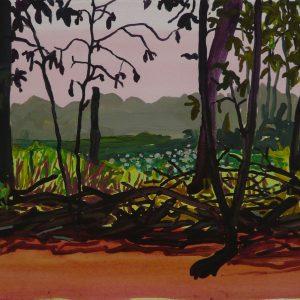 Brushwood # 1, 25 x 50 cm, acrylic on paper, 2013