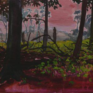 Brushwood # 2, 25 x 50 cm, acrylic on paper, 2013