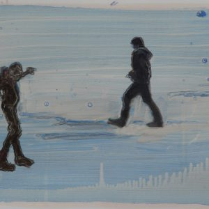 Snowmen # 2, 29,5 x 41 cm, acrylic and oil on paper, 2013