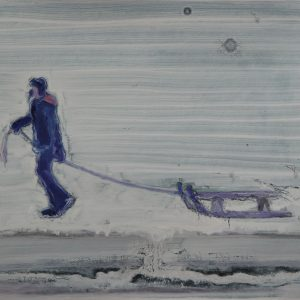 Snowman # 5, 29,5 x 41 cm, acrylic and oil on paper, 2013