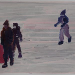 Snowmen # 7, 29,5 x 41 cm, acrylic and oil on paper, 2013