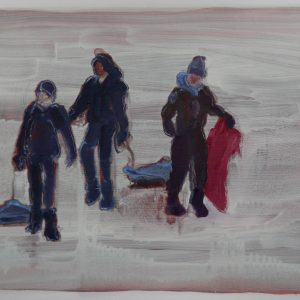 Snowmen # 8, 29,5 x 41 cm, acrylic and oil on paper, 2013