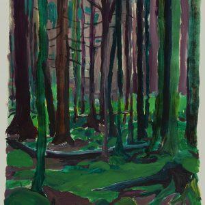 Grünewald # 2 (Vosges), 45 x 33 cm, acrylic on paper, 2011