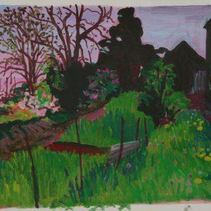Garden # 1, 31 x 41 cm, acrylic on paper, 2013